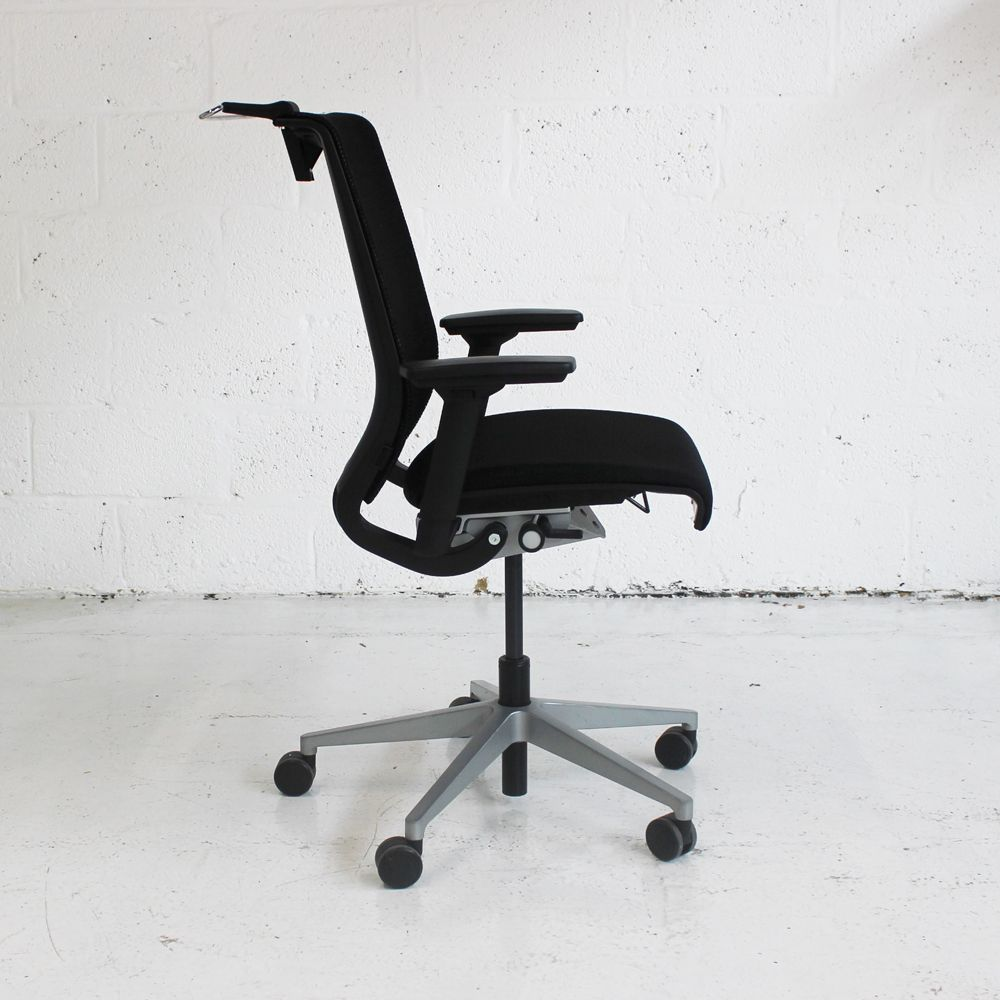 steelcase think office chair. Steelcase Think Operator Chair With Coat Hanger | Mesh Back Office Black Computer E